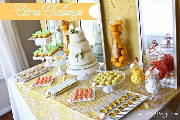 Una mesa de dulces es un excelente elemento de ambientación
