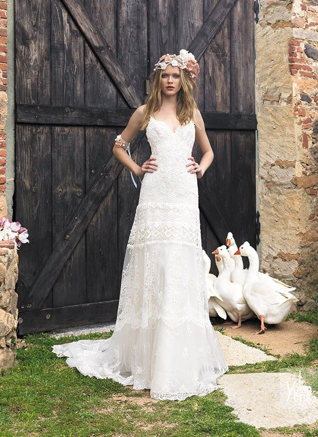 vestidos de novia hippie chic de ensueño