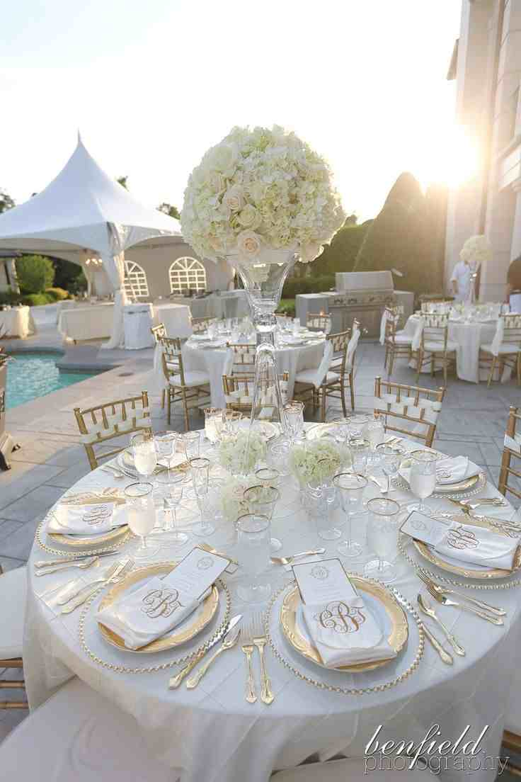wedding ideas gold and white decoraci 243 n de boda en blanco y dorado 161 so 241 ada 28203