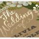 Tipografía en foil dorado para invitaciones proceso doble