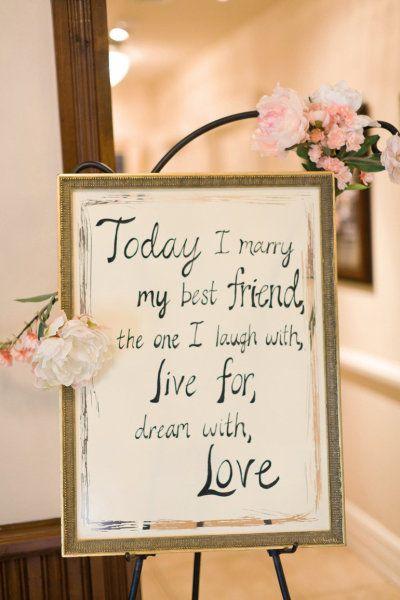 """Frases de amor para tus invitaciones de bodas. """"Hoy me caso con mi mejor amigo"""""""