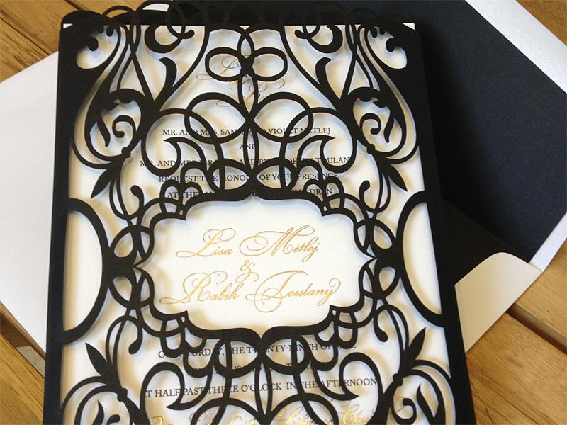 Invitaciones de bodas cortadas con laser - LaserCreatives