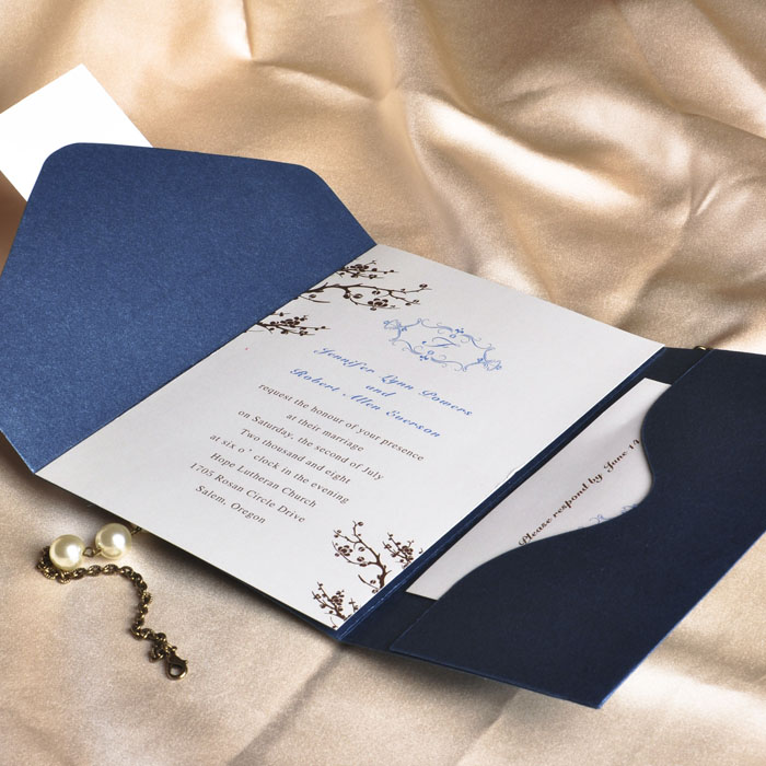 Wedding Pocket Invites with nice invitations layout