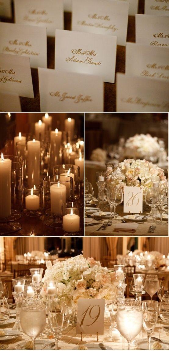 decoración de boda en blanco y dorado ¡soñada!