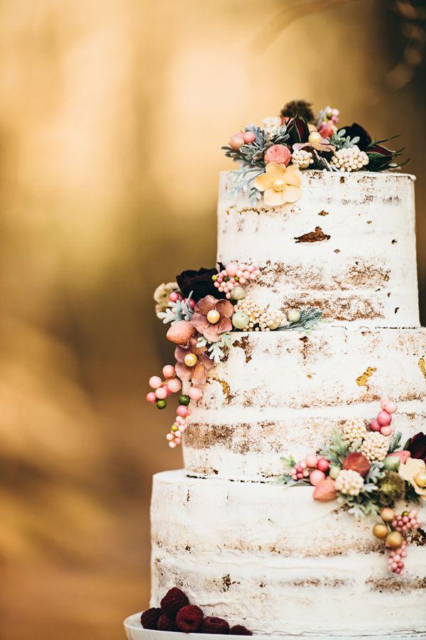 Pasteles rusticos desnudos perfectos ara bodas de invierno