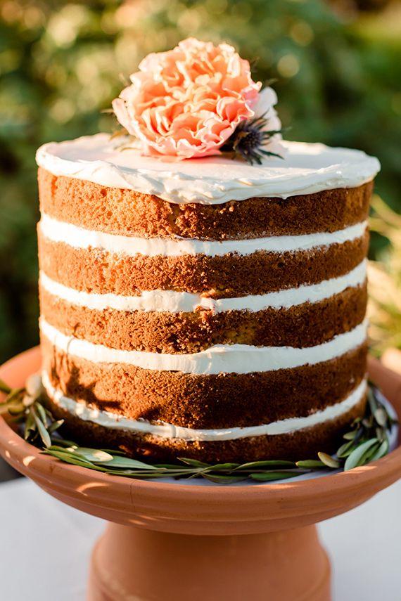 Hermosas tartas de boda originales y frescas. Tartas de boda desnudas