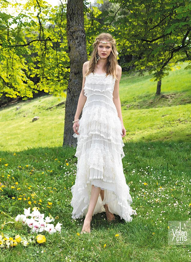 Vestidos de novia hippie chic de Yolan Cris - Nicol