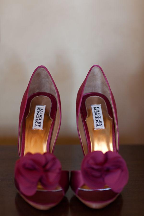 Zapatos de novia en marsala de Badgley Mischka