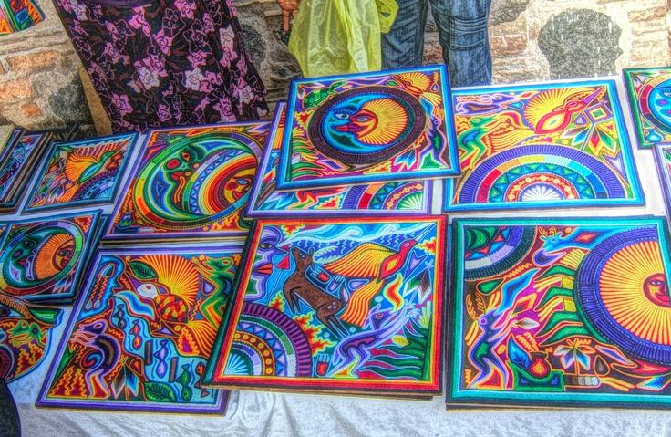 Arte Tepehuano en el Mercado de Artesanos de Guayabitos Nayarit