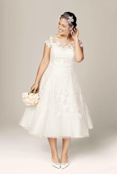 Celebra tus curvas con este fabuloso vestido para novias gorditas