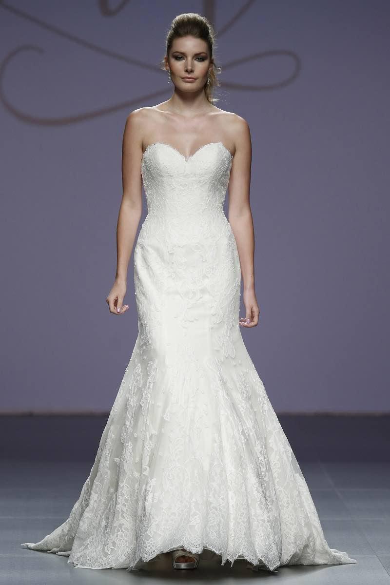 Justin Alexander y un vestido de novia en corte sirena