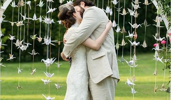 Adornando en arco. Manualidades para boda - como hacer grullas de papel