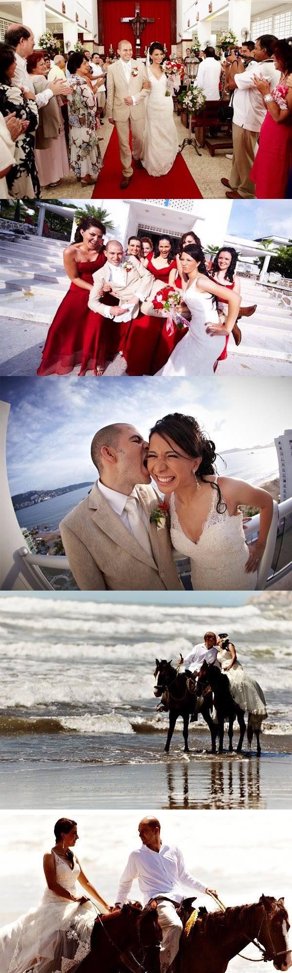 Bodas espectaculares en la playa: Tania y Alberto- una boda en Acapulco