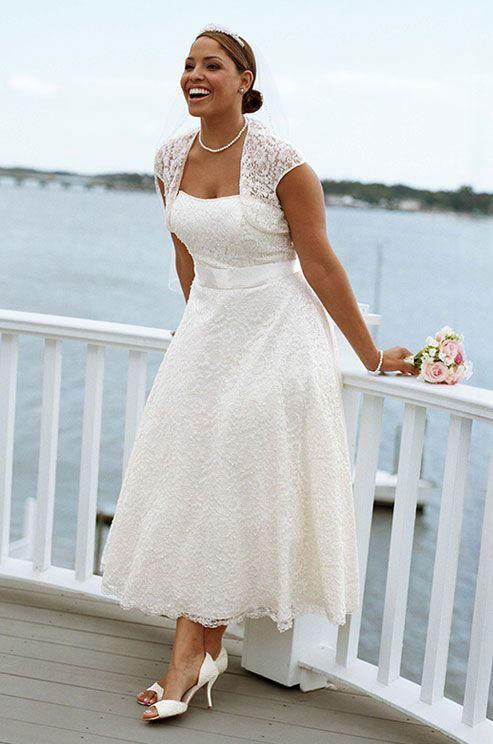 Vestidos de novia de playa para gorditas
