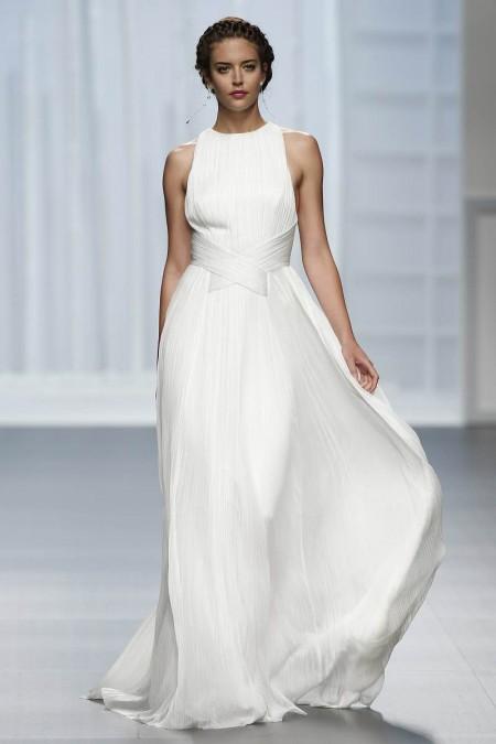 Vestido de novia blanquisimo de Rosa Clara 2016