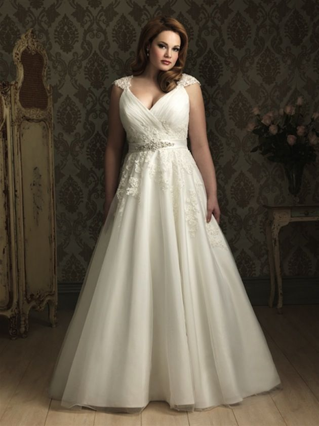 Vestido de novia para gorditas de Allure