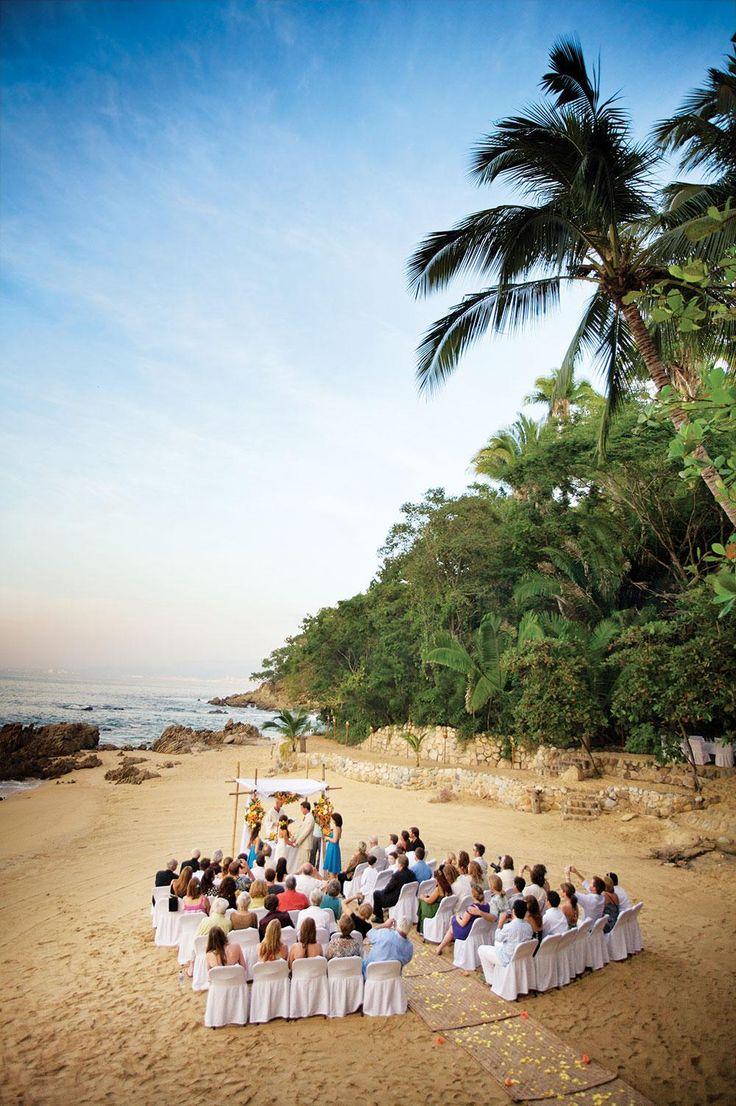 Boda en playas de México. Playa Las Caletas