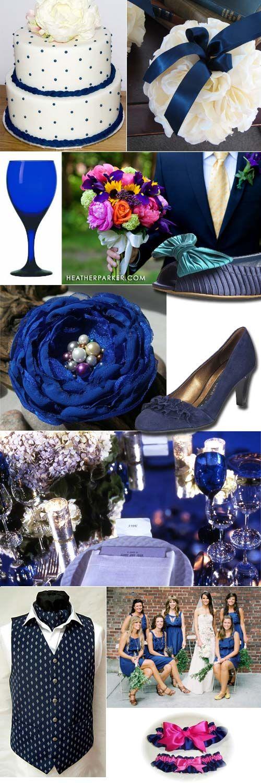 Boda azul con combinaciones de colores sutiles desde la tarta hasta el liguero