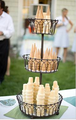Los conos para la nieve añaden un toque de diseño y tradición en tu boda.