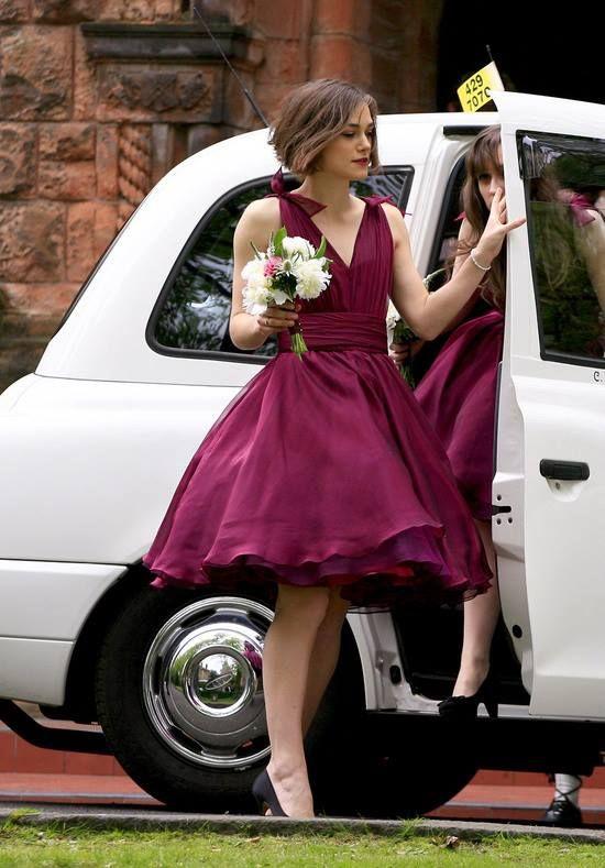 Vestidos cortos para novias gorditas en ciruela