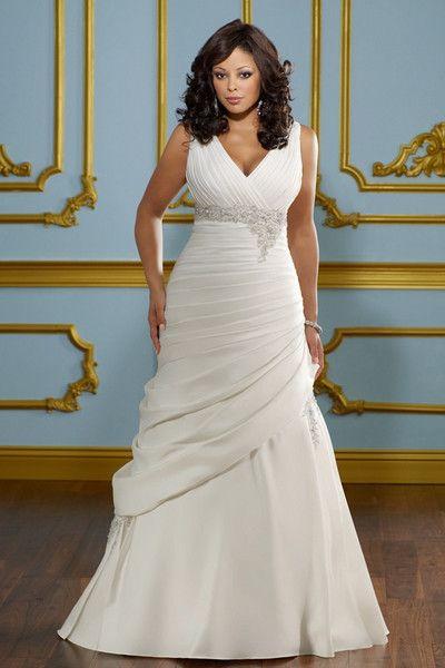 Vestidos de novia para gorditas corte sirena