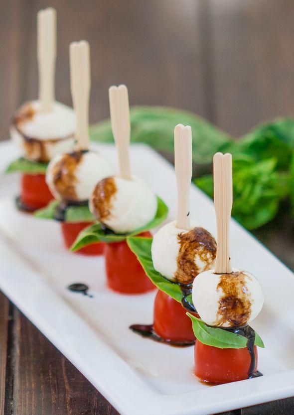 Bocaditos de ensalada caprese - Foto cortesia: jocooks.com