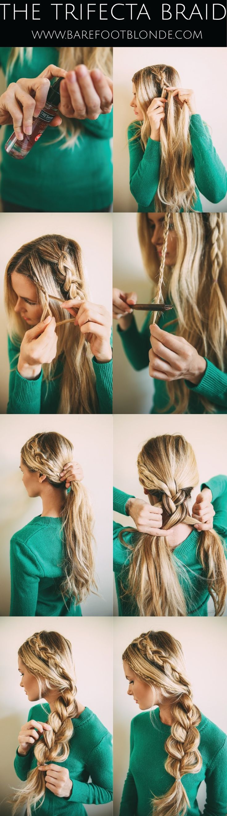 5 peinados con trenzas para novias paso a paso - Como hacer peinado para boda ...
