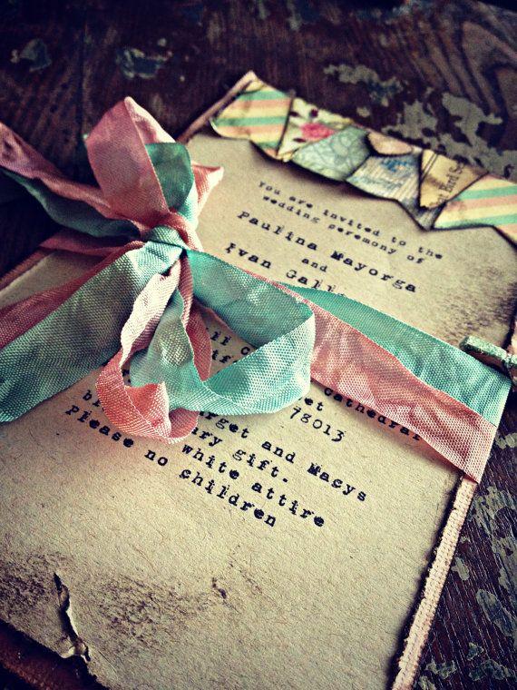 Invitaciones de boda boho chic ¿Hay algo mas hermoso?