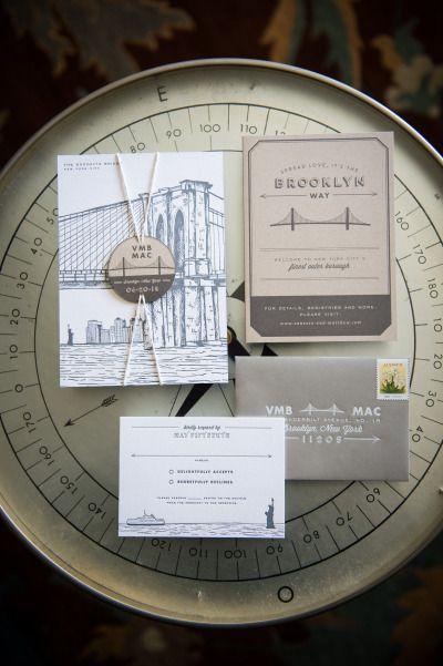 Mucho metal en una impresión fuerte. Invitaciones de boda estilo industrial Fotografia - Brian Hatton - brianhattonphotography.com