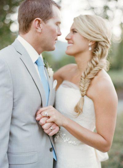 Peinados con trenzas cola de pez para un dia romántico y espectacular. Fotografia: sylviegilphotography.com