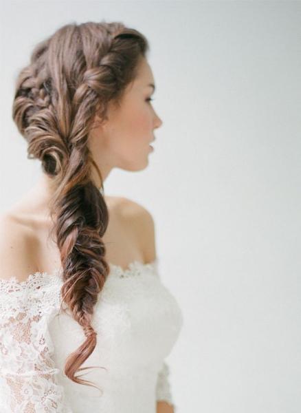 Peinados para novias con trenzas super románticas