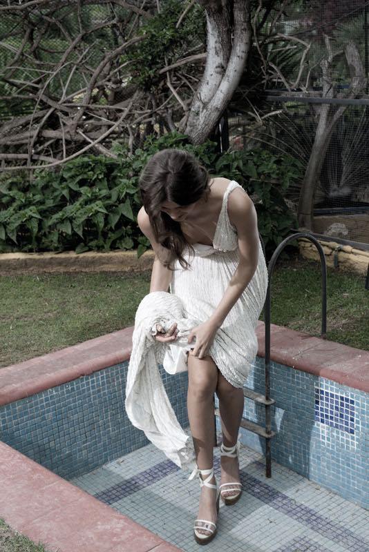 Romántico vestido de novia de Jesús Peiró diseñado por Merche Segarra
