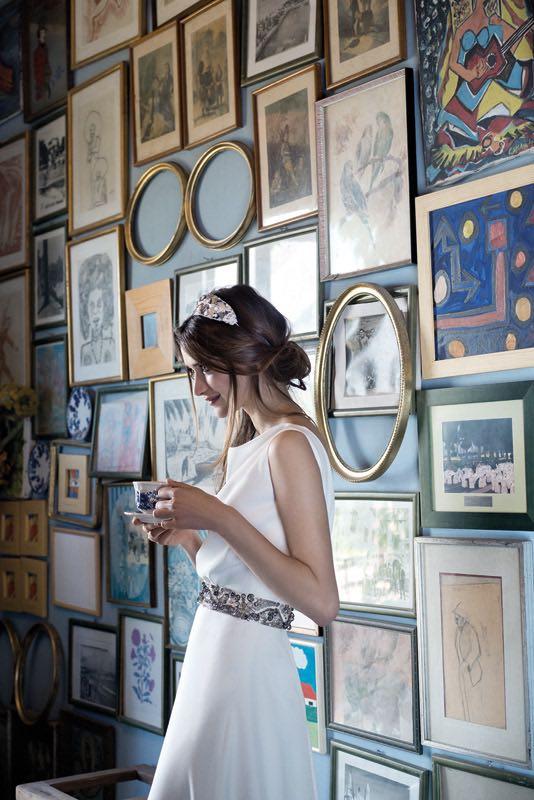 Vestidos de novia blandos con peso marcan tendencia para el 2016. Jesus Peiro.