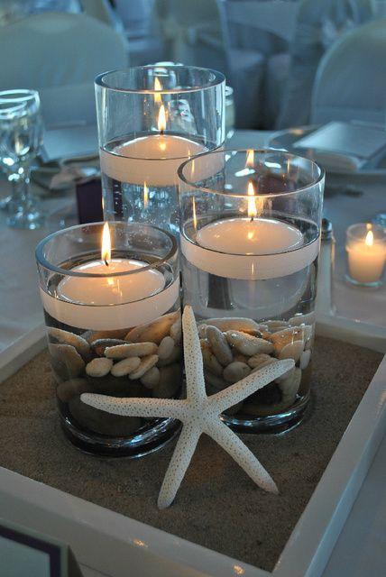Centros de mesa para boda en la playa muy fáciles de hacer