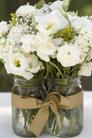 Centros de mesa para boda económicos y fáciles de hacer