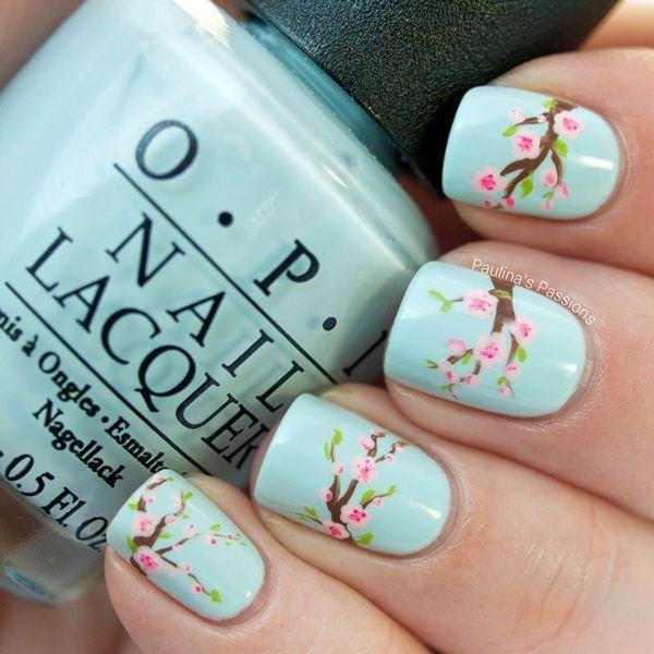 Diseño de uñas primaveral. Foto: fashionsy.com