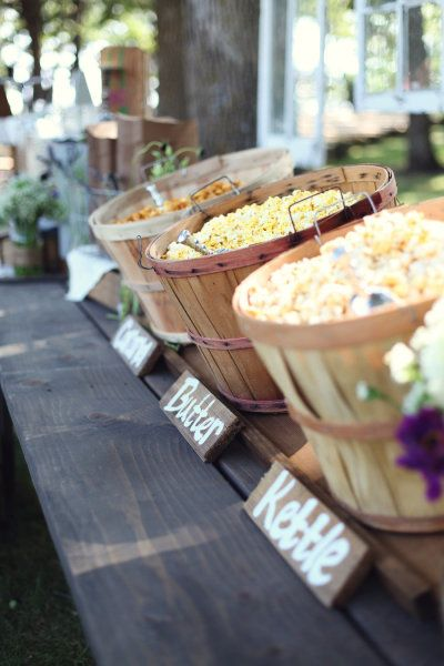 Una idea super original para nuestro popcorn bar