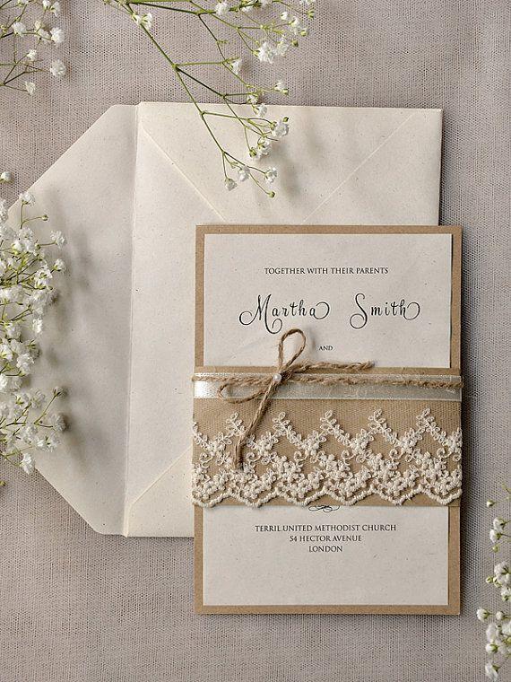 Invitaciones de boda r sticas al alcance de tu bolsillo - Bodas sencillas y romanticas ...