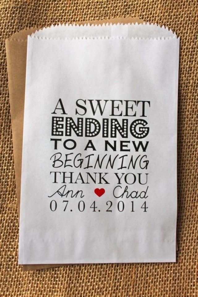 Bolsitas personalizadas para souvenirs de casamiento, llénalas con lo que quieras