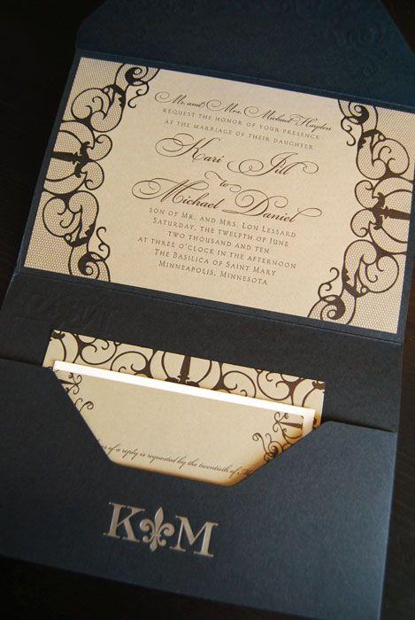 Elegantes participaciones de boda en letterpress. Elegancia y sobriedad con detalles exactos