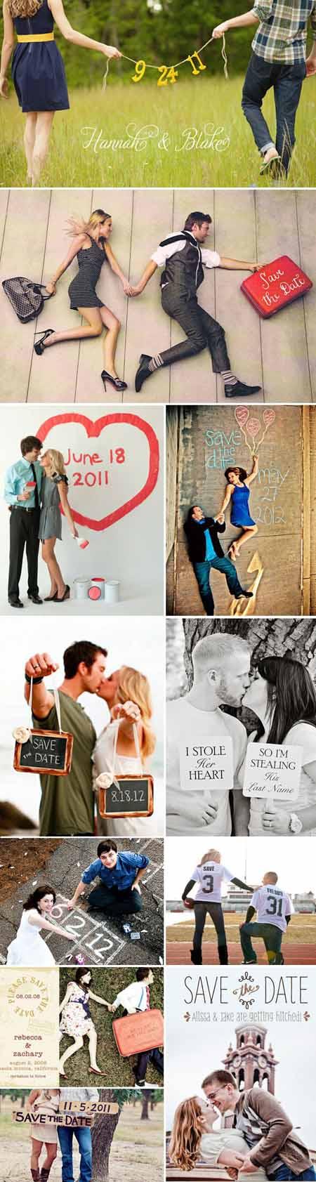 Inspírate en estas ideas de fotos para tu save the date. Algunas tienen trucos para lograr fotos super originales.