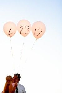 Save the dates originales con globos