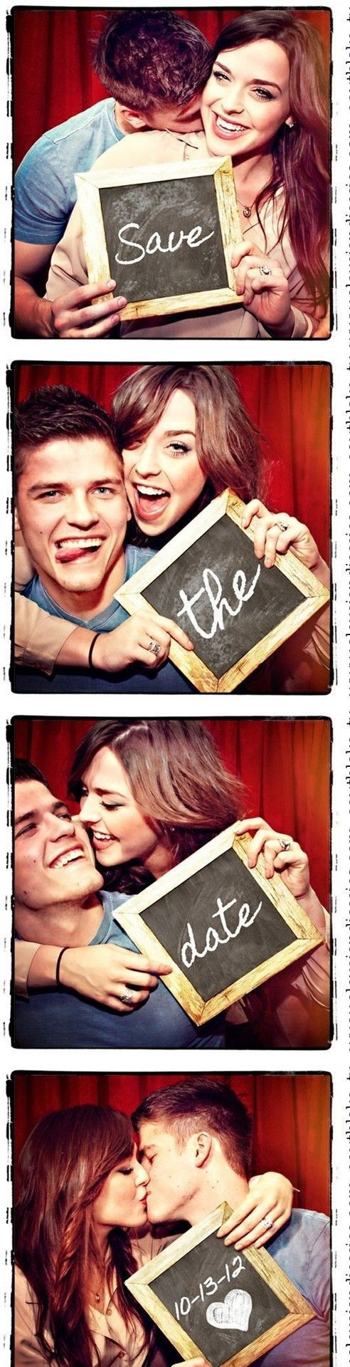 Ideas para save the date con divertidas secuencias de fotos estilo photobooth
