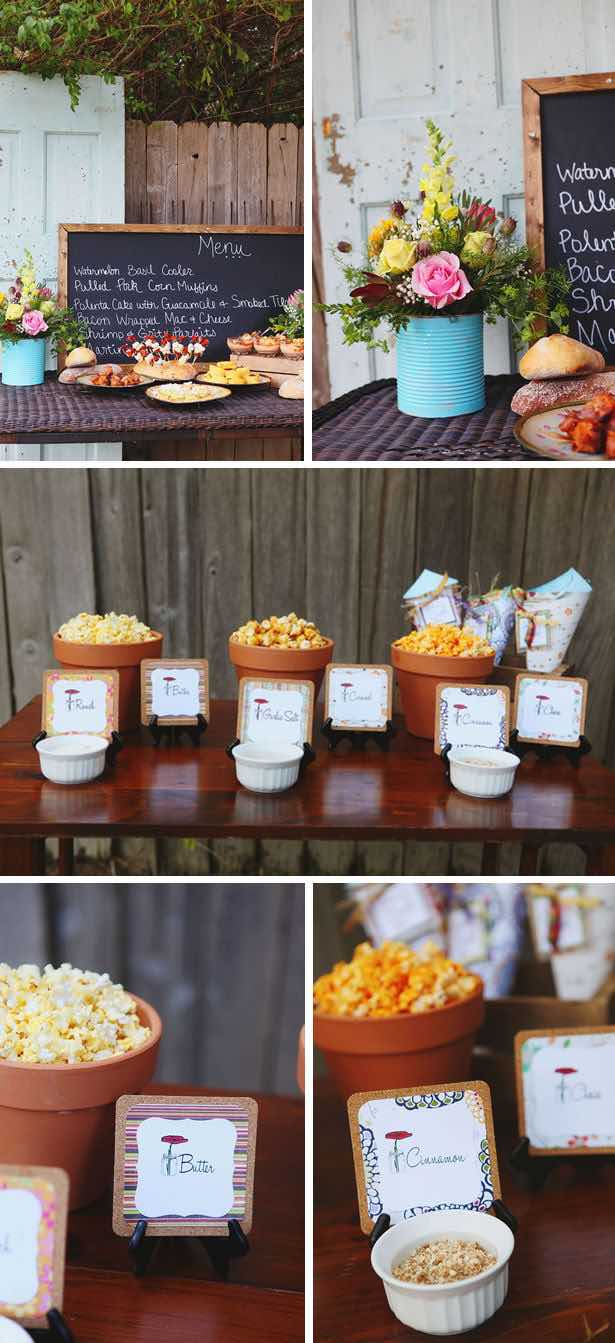 Ideas de popcorn bar y mesa de dulces nicas y originales - Como decorar un bar pequeno ...