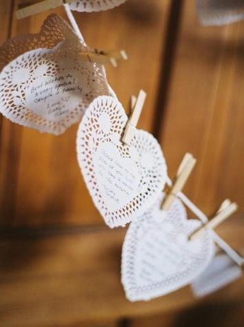 Libros de firmas para bodas originales de corazones con mensajes para los novios