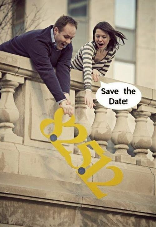 Divertido Save the Date perfectp para reservar la fecha - Foto: blog.myweddingreceptionideas.com