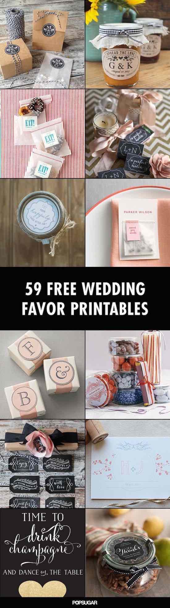 ¡Todo puede personalizarse! imprimibles de souvenirs para bodas super originales