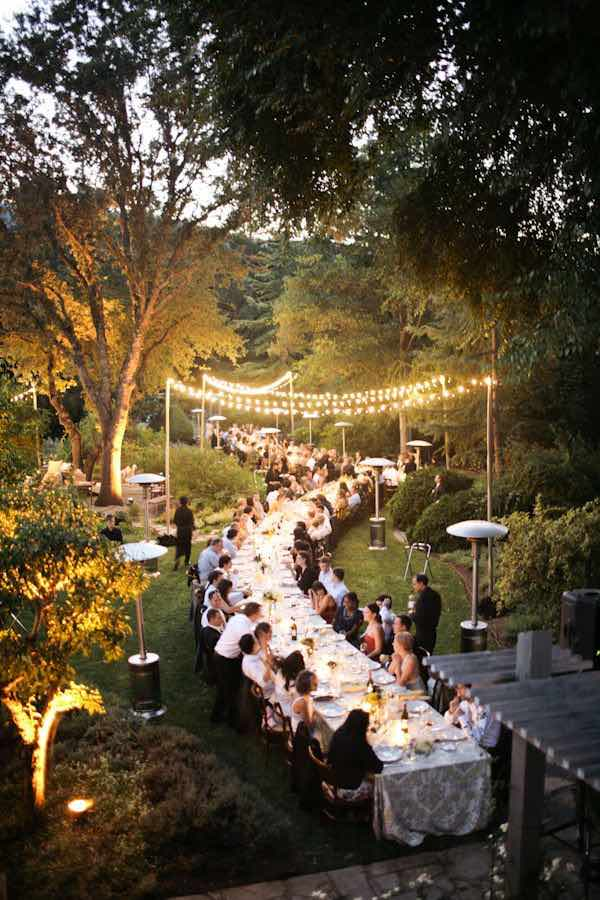 18 ideas para la decoraci n con luces para bodas a copiar for Boda en un jardin