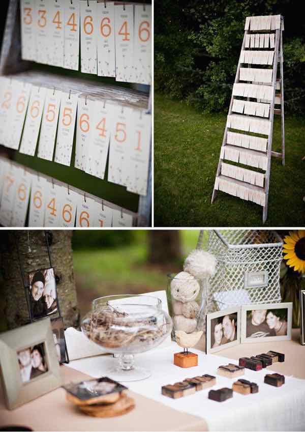 Libros de firmas para bodas originales con fotos. Une los números de mesa con el libro de firmas para bodas.