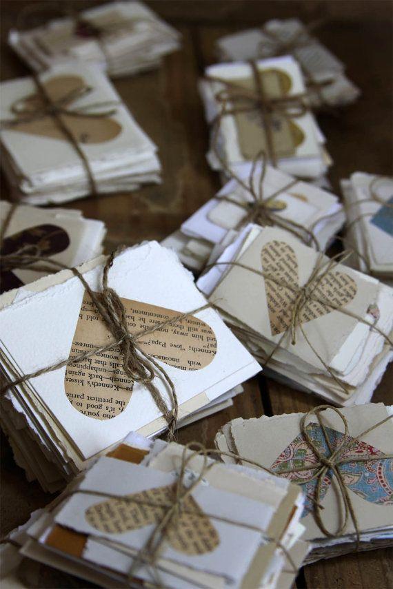 Perfectos libros de firmas para bodas originales de paquetes de tarjetas de deseos con un toque shabby chic para los novios firmadas por los invitados